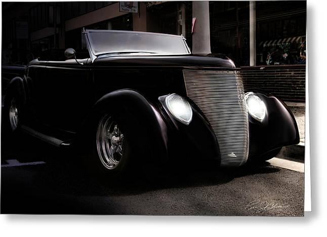 Ford Street Rod Greeting Cards - Night Rod Greeting Card by Peter Chilelli
