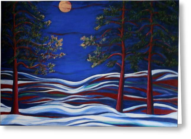 Kpl Greeting Cards - Night Serenity  Greeting Card by Kathy Peltomaa Lewis