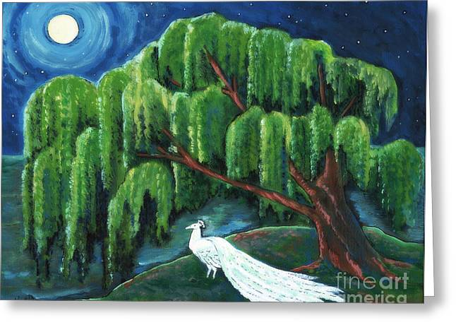 Arkansas Paintings Greeting Cards - Night Shade Greeting Card by MarLa Hoover