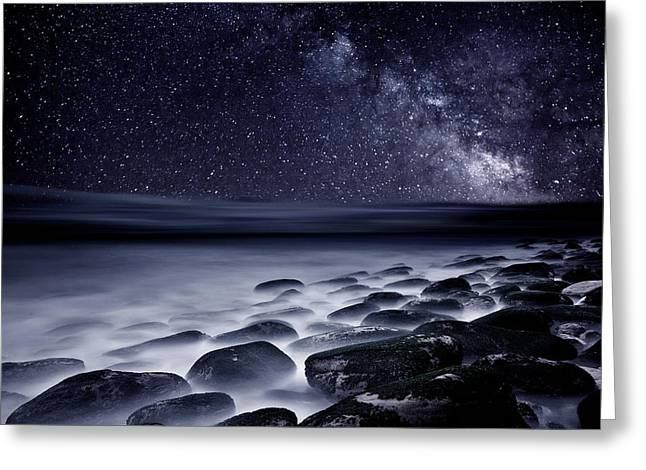 Milky Way Greeting Cards - Night shadows Greeting Card by Jorge Maia