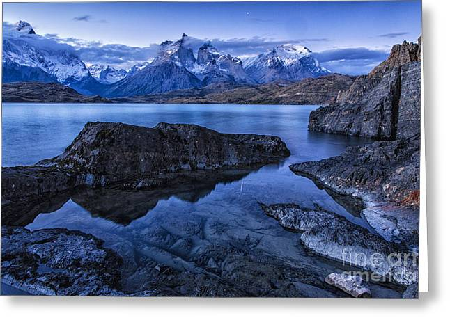 Bedroom Art Greeting Cards - Night Shot in Torres del Paine Greeting Card by Timothy Hacker