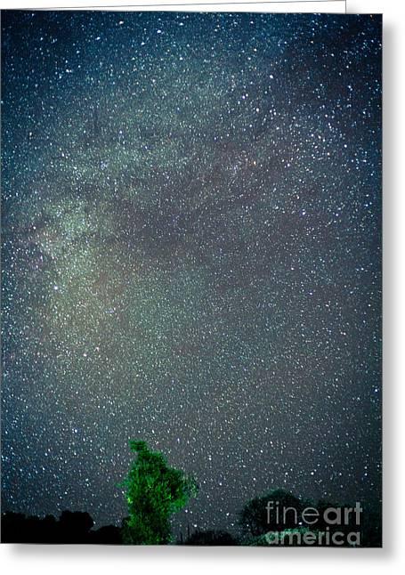 Spirituality Greeting Cards - Night sky in Himalayas mountain Greeting Card by Raimond Klavins