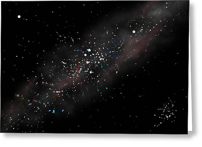 Macrocosm Greeting Cards - Night Sky - Milky Way Greeting Card by Daniel Janda