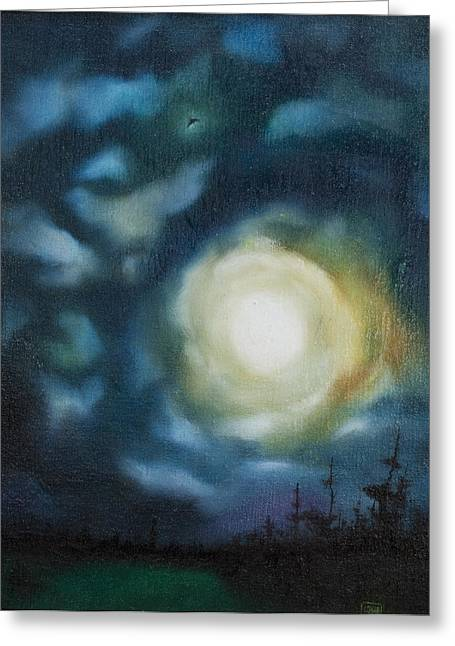 Subtle Colors Greeting Cards - Night Sky Greeting Card by Robert Pitonzo