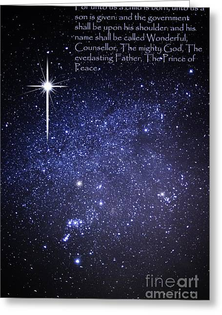 Isaiah Greeting Cards - Night Sky Scripture Greeting Card by Thomas R Fletcher
