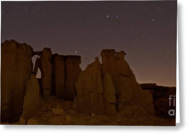 Ursa Minor Greeting Cards - Night Sky, Valley Of Stars, Qeshm Greeting Card by Babak Tafreshi