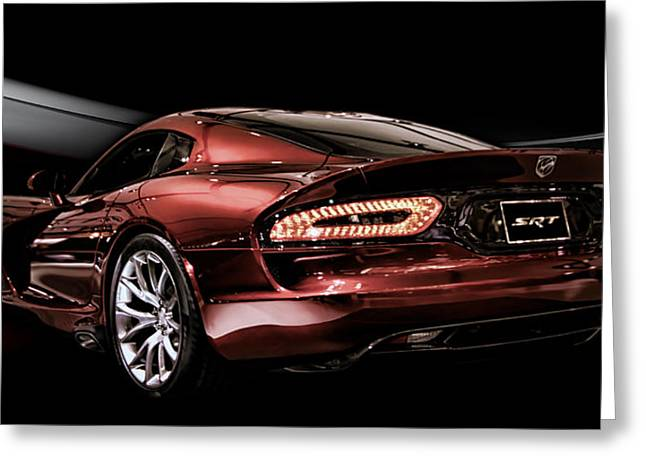 Dodge Digital Art Greeting Cards - Night Snake Greeting Card by Peter Chilelli