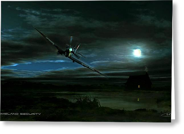Wwi Greeting Cards - Night Spit Greeting Card by Peter Van Stigt
