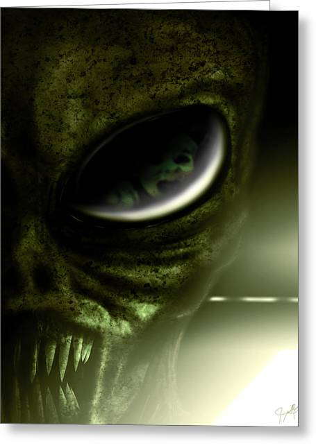 Abduction Digital Art Greeting Cards - Night Terrors Greeting Card by Jeremy Martinson