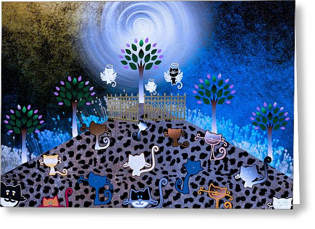 Pearly Gates Greeting Cards - Night Time Catwalk Leading to heaven Greeting Card by Teri Schuster