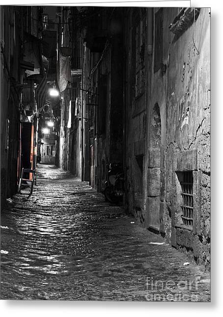 Naples Photographs Greeting Cards - Night-time Greeting Card by Marion Galt
