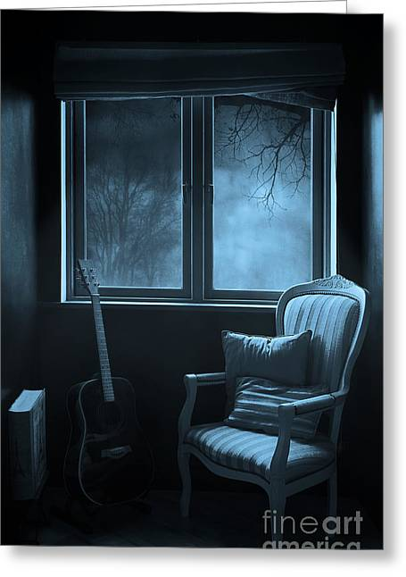 Empty Chairs Digital Greeting Cards - Night time story room Greeting Card by Svetlana Sewell