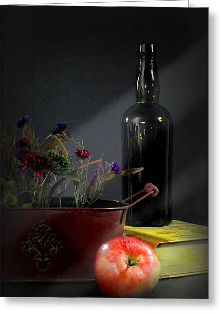 Fruit And Wine Greeting Cards - Night to Light Greeting Card by Diana Angstadt