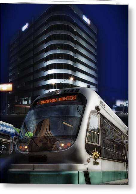 Night Train Greeting Card by Gary Warnimont