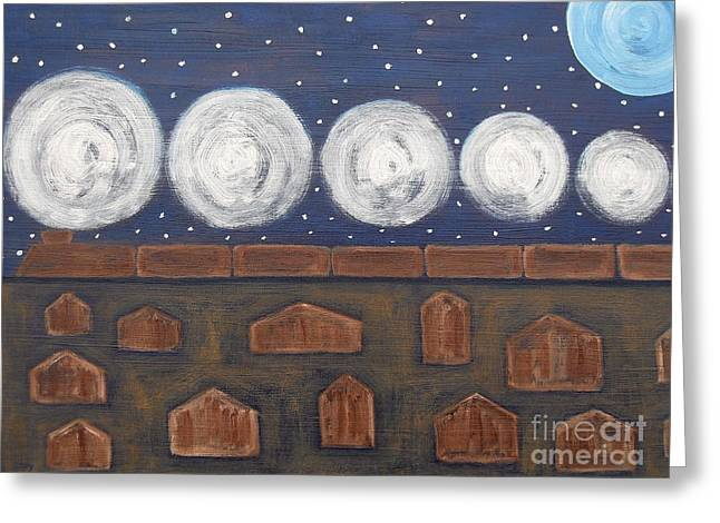 Western Canada Landscape Art Greeting Cards - Night Train Greeting Card by Patrick J Murphy