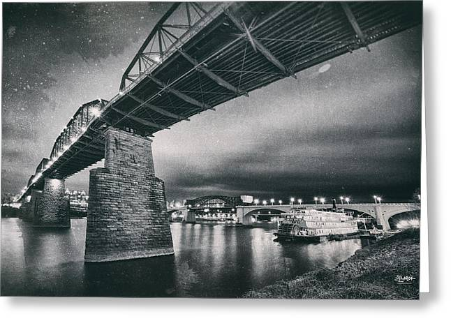 Chattanooga Greeting Cards - Night Under The Bridge Greeting Card by Steven Llorca
