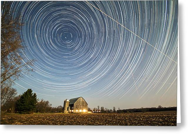Night Vision Greeting Card by Matt Molloy