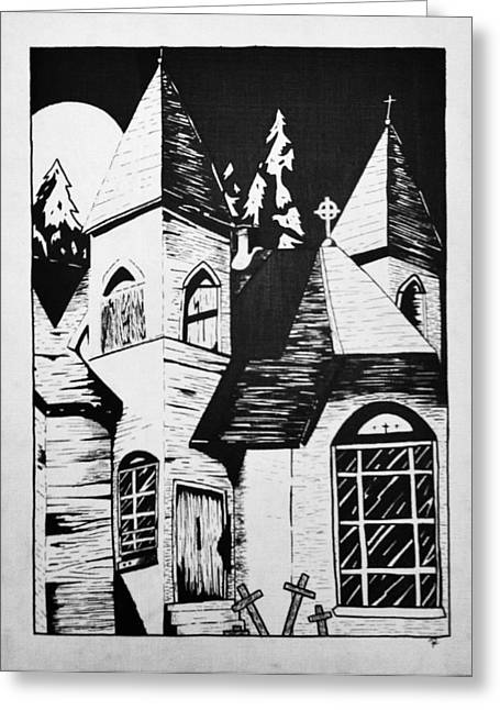 Silence Drawings Greeting Cards - Night whispers  Greeting Card by Rachel  Ledford