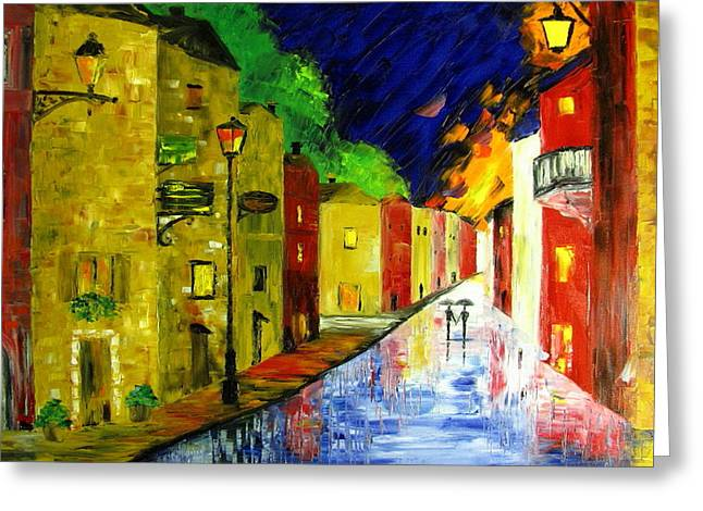Night With You Greeting Card by Mariana Stauffer