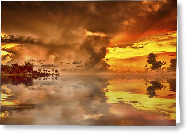 Top-end Greeting Cards - Nightcliff Gold Greeting Card by Douglas Barnard