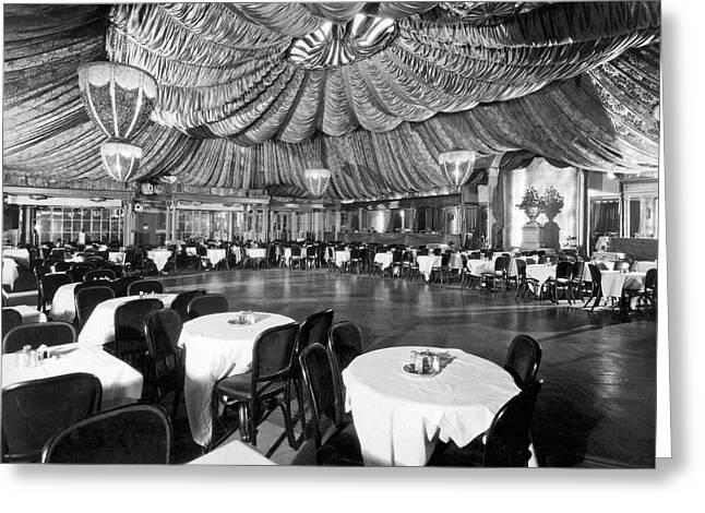 Nightclub Interior Greeting Card by Underwood Archives