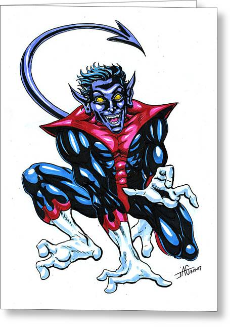 Nightcrawler Greeting Cards - Nightcrawler Greeting Card by John Ashton Golden