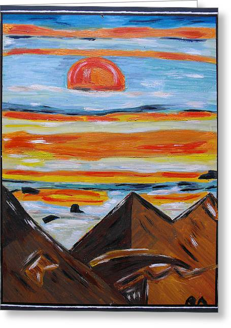 Stopped From Time Greeting Cards - Nightfall Greeting Card by Agnes Roman