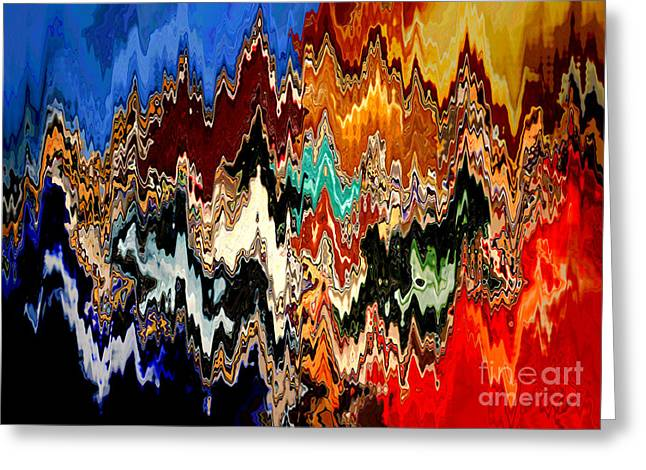 Carol Groenen Abstract Greeting Cards - Nightfall Greeting Card by Carol Groenen