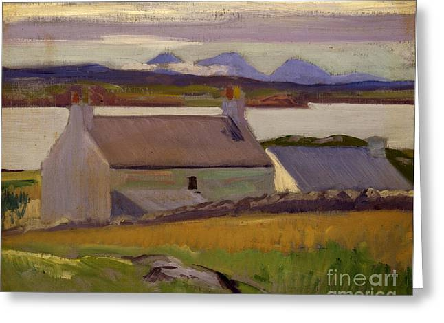 Beach Scenery Greeting Cards - Nightfall  Iona Greeting Card by Francis Campbell Boileau Cadell