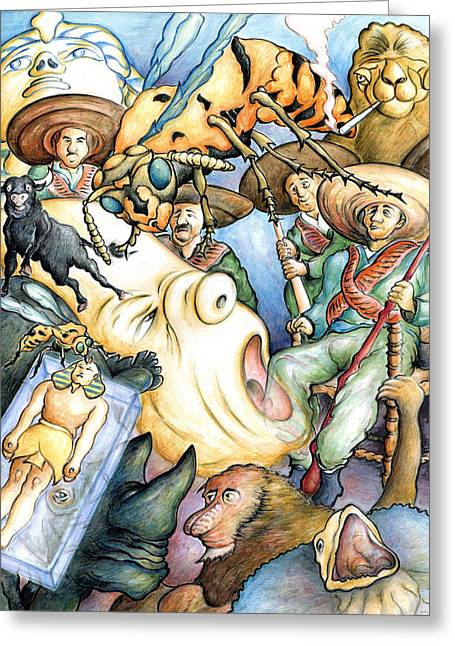 Nightmare 99 - Fantasy Art Greeting Card by Art America Online Gallery