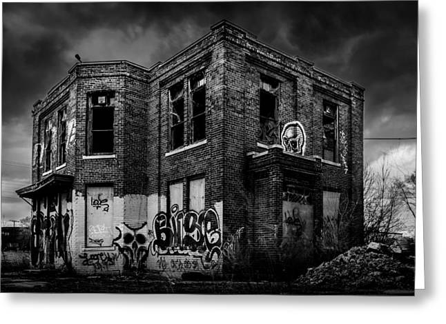 Abandonded Greeting Cards - Nightmare Factory Greeting Card by Randy Scherkenbach