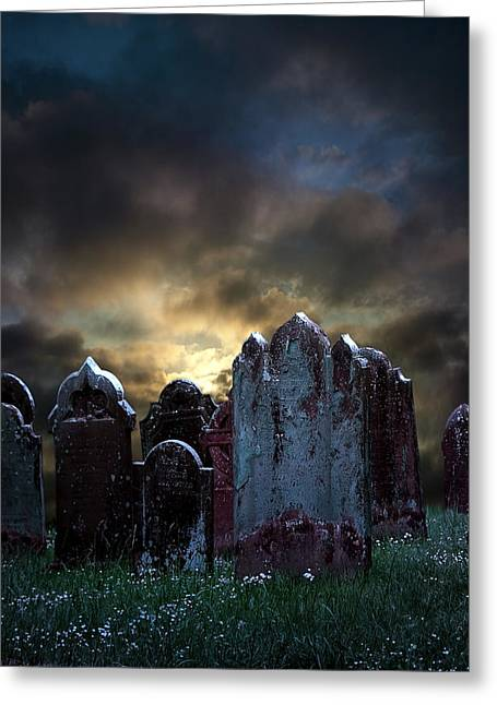 Creepy Digital Art Greeting Cards - Nightmare Hill Greeting Card by Svetlana Sewell