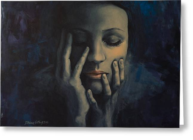 Emotions Greeting Cards - Nights in July Greeting Card by Dorina  Costras