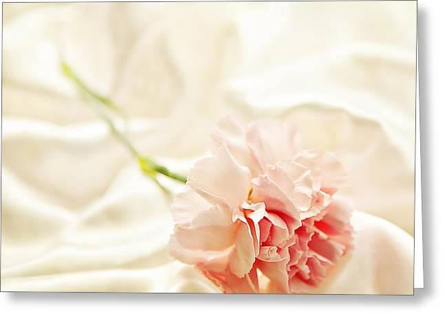 Nights In White Satin Greeting Card by Theresa Tahara