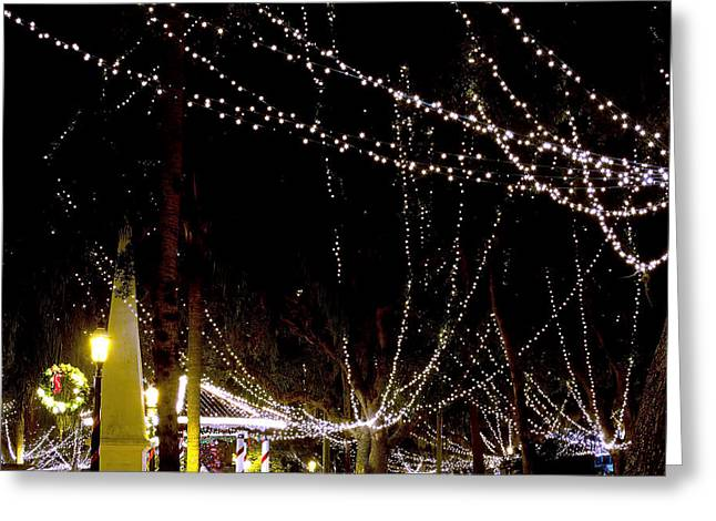 Nights Of Lights Greeting Card by Kenneth Albin