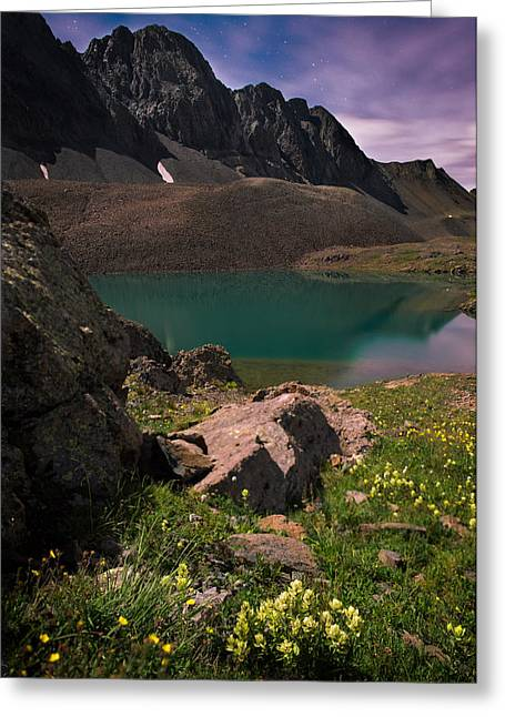 Colorado Captures Greeting Cards - Nightscape Bouquet Of Colors In American Basin Greeting Card by Mike Berenson