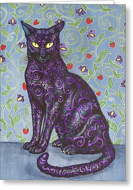 Beth Clark-mcdonal Greeting Cards - Nightshade Greeting Card by Beth Clark-McDonal
