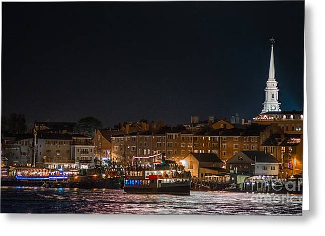 Old North Church Greeting Cards - Nighttime Laighton Greeting Card by Scott Thorp