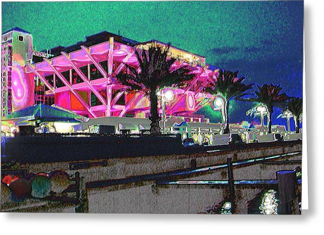 St Petersburg Florida Greeting Cards - Nighttime St Pete Pier Greeting Card by Teresa McDonald