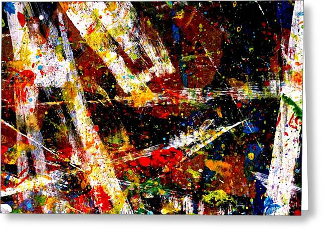 Abstract Art Greeting Cards Greeting Cards - Nighttown  XV Greeting Card by John  Nolan