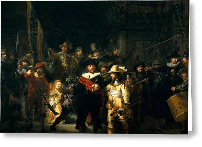 Nightwatch Greeting Cards - Nightwatch  Greeting Card by Rembrandt