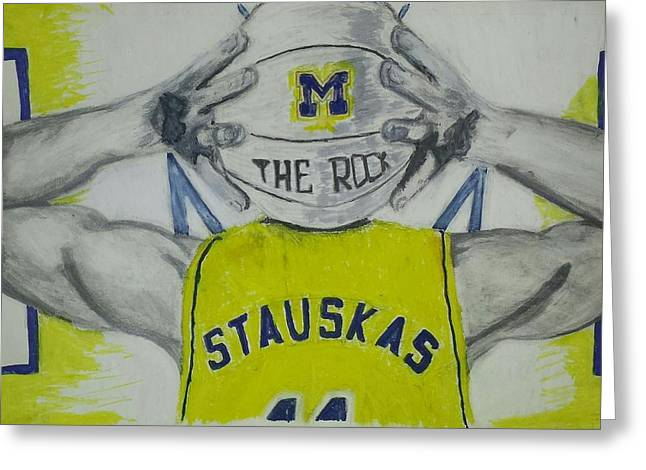 Basketball Pastels Greeting Cards - Nik Stauskas Greeting Card by Tyrone Scott