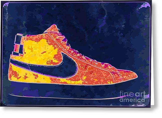 Nike Blazers 4 Greeting Card by Alfie Borg