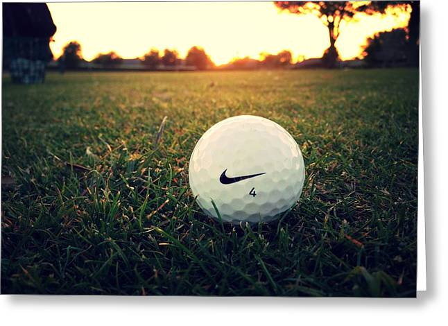 Nike Greeting Cards - Nike Golf Ball Greeting Card by Derek Goss