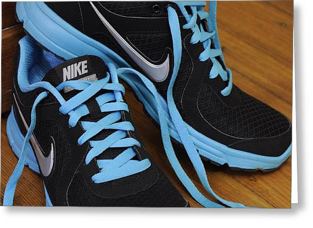 Nike shoes Greeting Card by Nicole Berna
