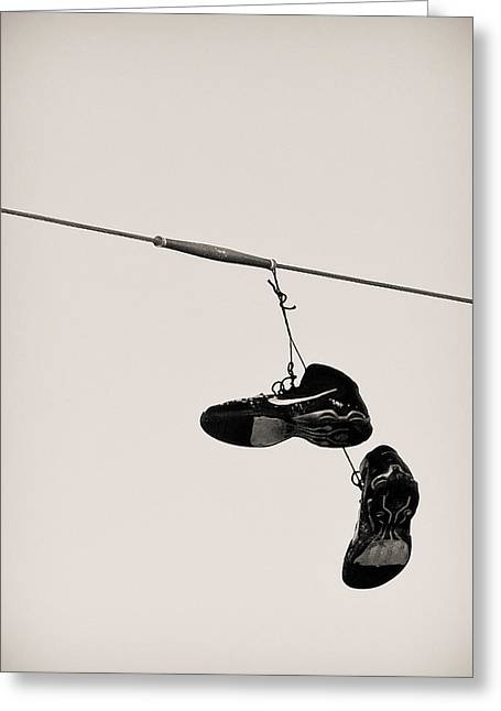 Nike Photographs Greeting Cards - Nikes Greeting Card by Tracy Salava