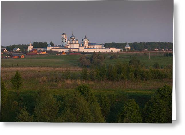 Russian Orthodox Greeting Cards - Nikitinsky Monastery At Late Afternoon Greeting Card by Panoramic Images