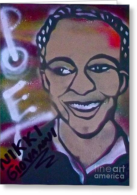Occupy Greeting Cards - Nikki Giovanni Greeting Card by Tony B Conscious