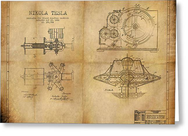Rotate Greeting Cards - Nikola Telsas work Greeting Card by James Christopher Hill
