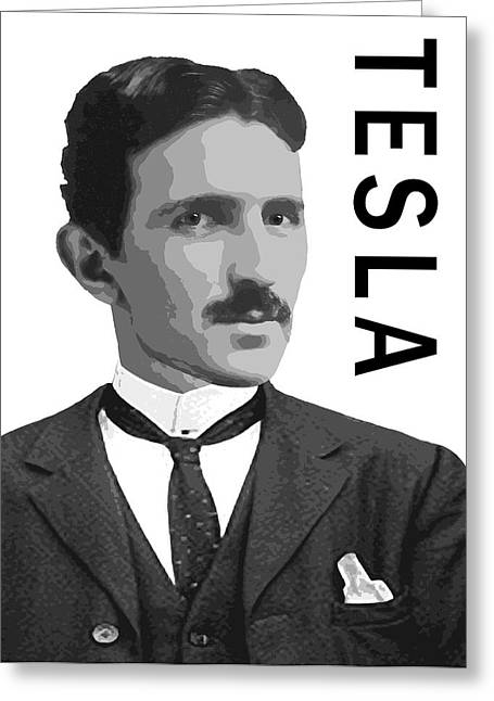 Electrical Engineer Greeting Cards - Nikola Tesla 2 Greeting Card by Daniel Hagerman